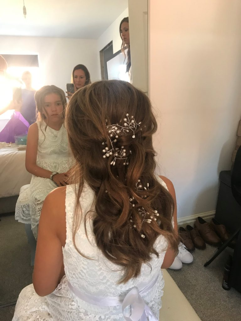 Soft textured hair up. Hairvine. Boho Luxe. Textured updo. Messy hair up. Wedding hair. Bridal hair. Buckinghamshire wedding. Berkshire wedding hair. Wedding hairstylist. Bridal hairstylist.