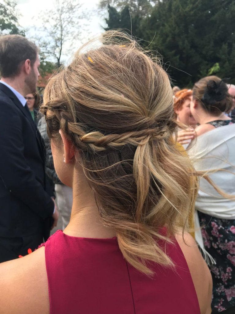 Boho Luxe. Bridesmaids hair. Textured updo. Messy hair up. Wedding hair. Bridal hair. Buckinghamshire wedding. Berkshire wedding hair. Wedding hairstylist. Bridal hairstylist.