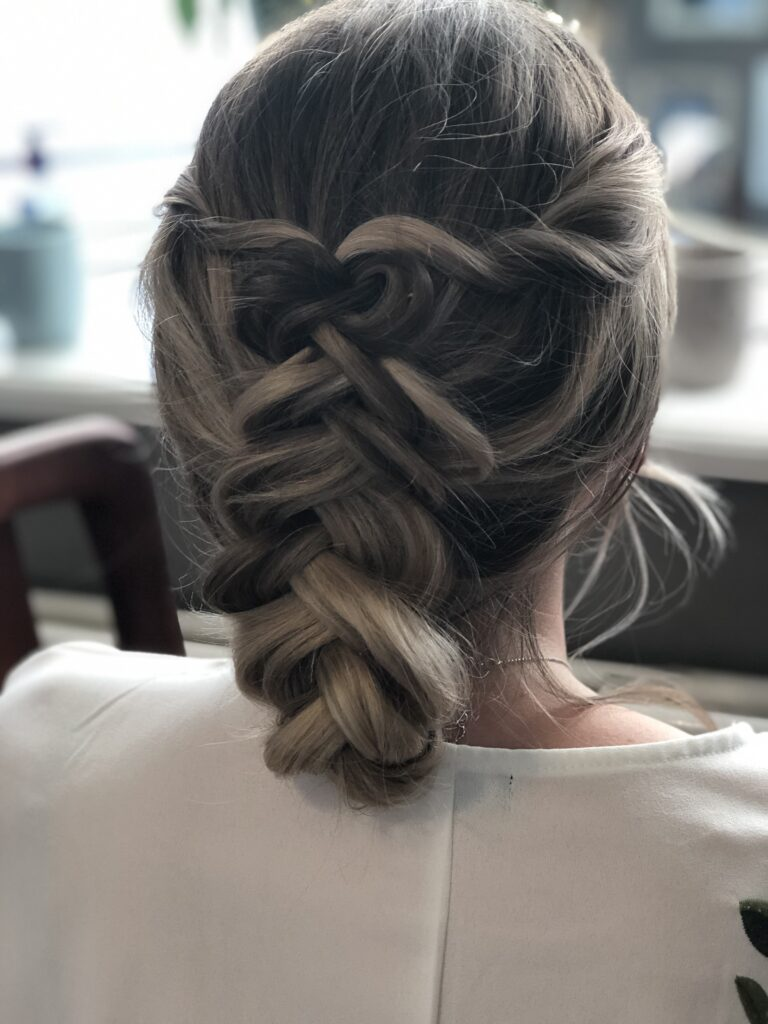 Updated version of a braid. Bridal trends 2020. Perfect for a bride or wedding guest.